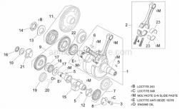 Engine - Crankshaft I - Aprilia - Water pump gear