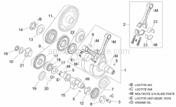 Engine - Crankshaft I - Aprilia - Timing system gear cpl.