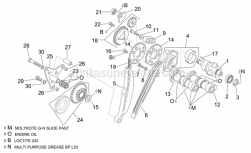 Engine - Rear Cylinder Timing System - Aprilia - Upper balance shaft gear cpl.