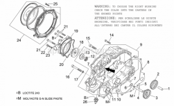 Engine - Water Pump - Aprilia - Clutch cover