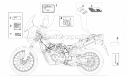 Frame - Decal And Plate Set - Aprilia - Rivet 3x11