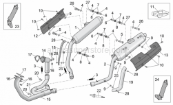 Frame - Exhaust Pipe - Aprilia - Cover