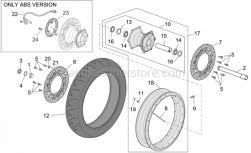 Frame - Front Wheel - Aprilia - Sensor abs