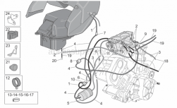 Frame - Fuel Vapour Recover System - Aprilia - Breather pipe 4x8