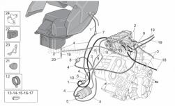 Frame - Fuel Vapour Recover System - Aprilia - Support