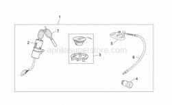 Frame - Lock Hardware Kit - Aprilia - Main switch - steering lock