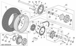 Frame - Rear Wheel - Aprilia - Rear wheel(complete)