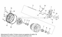 29 - Clutch I - Aprilia - Clutch disengagement flange