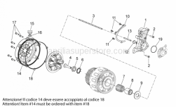 29 - Clutch I - Aprilia - Gasket ring 8x16x7