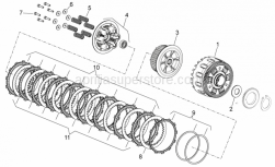 ENGINE - Clutch II - Aprilia - Kit clutch disc