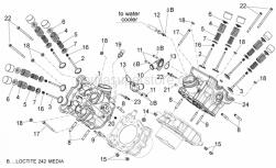 29 - Cylinder Head - Valves - Aprilia - Ext. valve spring