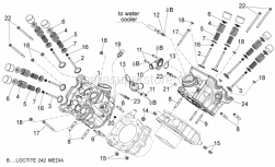 29 - Cylinder Head - Valves - Aprilia - Water hose union