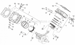 ENGINE - Cylinder With Piston - Aprilia - Piston catD 91,954-91,961