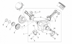 ENGINE - Drive Shaft - Aprilia - Connecting rod cpl. catB bianco