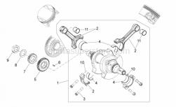 ENGINE - Drive Shaft - Aprilia - Primary drive gear catA