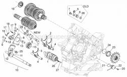 29 - Gear Box Selector - Aprilia - Gear shaft+spring cpl.