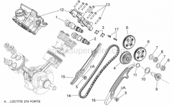 29 - Rear Cylinder Timing System - Aprilia - Chain guide plate