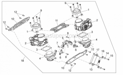 29 - Throttle Body - Aprilia - Air filter support