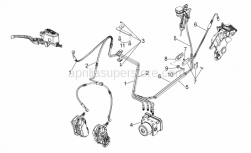 28 - Abs Brake System - Aprilia - Screw w/ flange M8x25