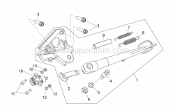 FRAME - Central Stand - Aprilia - Low self-locking nut