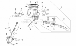 28 - Clutch Pump - Aprilia - Clutch pipe