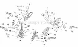 28 - Foot Rests - Aprilia - Hex socket screw M8x25