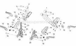 FRAME - Foot Rests - Aprilia - LH front footrest bracket