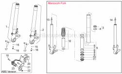 FRAME - Fron Fork II - Aprilia - Hub+RH fork leg
