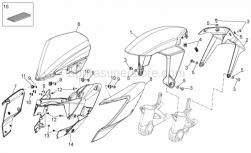 28 - Front Body - Front Mudguard - Aprilia - Self-tap screw 3,9x14