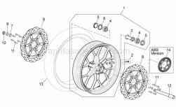 28 - Front Wheel - Aprilia - Wheel spindle nut