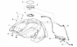 28 - Fuel Tank - Aprilia - Rubber spacer