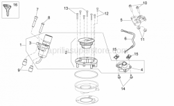 28 - Lock Hardware Kit - Aprilia - Screw w/ flange M6x25
