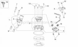 28 - Lock Hardware Kit - Aprilia - Aprilia key with transpo.