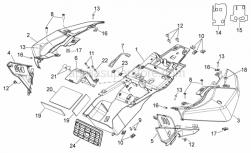 28 - Rear Body I - Aprilia - Support rubber part