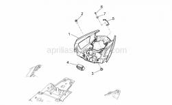 28 - Rear Body Ii - Aprilia - Rubber fuse box