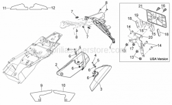 FRAME - Rear Body III - Aprilia - Screw w/ flange M6x12
