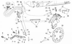 28 - Rear Brake System - Aprilia - Rear brake lever pin