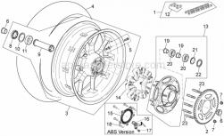 28 - Rear Wheel - Aprilia - Rear wheel