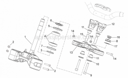 28 - Steering - Aprilia - Fork upper plate