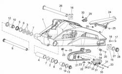 28 - Swing Arm - Aprilia - LH chain guide plate
