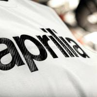 Apparel - Shirts - Aprilia - Collection 2012 T-Shirt White With Carbon Logo Size -S -M -L -XL