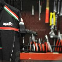 Apparel - Shirts - Aprilia - Polo Black M/C Paddock- S