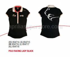 Apparel - Shirts - Aprilia - POLO RACING LADY BLACK - XS