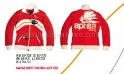 Apparel - Sweaters - Aprilia - SWEAT SHIRT RACING LADY RED - S