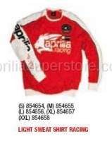 Apparel - Sweaters - Aprilia - LIGHT Sweater RACING (RED) - S -XL