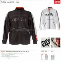 Apparel - Sweaters - Aprilia - Collection 2012 Full Zipper Sweater White Size M -L -XL