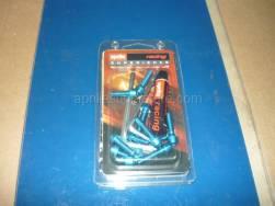 Accessories - Acc. - Cyclistic Components II - Aprilia - Handlebar screws, blue Ergal