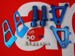 Accessories - Acc. - Cyclistic Components Ii - Aprilia - Adj.Foot rests, pair Ergal-Blu