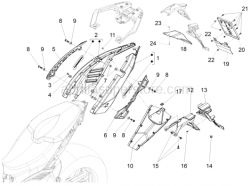 Body - Rear Body - Aprilia - Spring plate m5