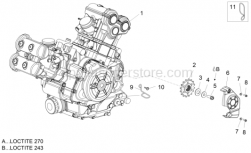 Engine - Engine-Completing Part - Lever - Aprilia - Sprocket Z=17